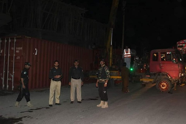 Containers delivered ot different roads in tehsil matta