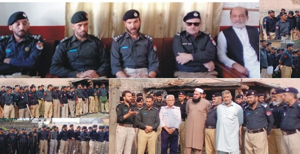 Police conduct flag march in Tehsil Matta